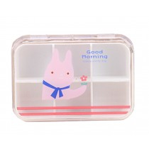 Set of 2 Lovely Pill Box Pill Cases Pill Organiser Rabbit Pink