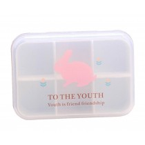 Set of 2 [Rabbit] Lovely Pill Box Pill Organiser Pill Cases Pill Holder