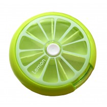[Lemon] Cute Round Pill Box Pill Cases Pill Organiser