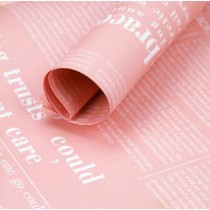 Exquisite Gift Wrap Paper 20 Sheets Retro Packaging Materials [Pink]