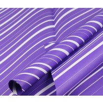 20 Sheets Gift Wrap Paper Purple Diagonal Stripes Packaging Materials
