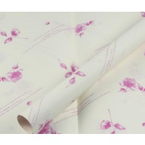 20 Sheets Wrap Paper Rose-carmine Floral Packaging Materials