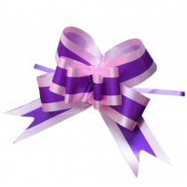 60PCS [Purple] Gift Wrap Ribbons Home Decoration Pull Flower Ribbons