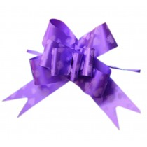 [Purple, Heart] Gift Wrap Party Decoration Pull String Bows/Ribbons, 60PCS