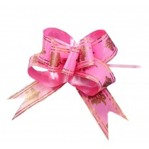 Chinese Character Wedding Decoration Pull String Ribbons, 60PCS [Pink]