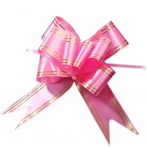 Floral Decoration Pull String Ribbons, 60PCS Pull Flower Ribbons [Pink]