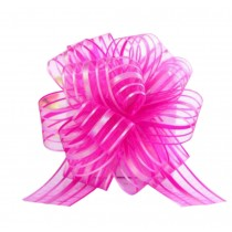 Set of 6, Decorative Pull String Ribbons Wedding/Party Supplies [Rose-carmine]