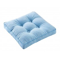 [Blue Dot] Square Seat Cushion Floor Pillow Thickened Chair Pad Tatami