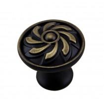 [Flower] Set of 2 Single Hole Drawer Handles Wardrobe Pulls Furniture Handle