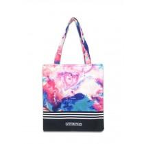 Fashion Canvas Women's Cotton Print Tote Shopping Beach Bag Bright Colorful