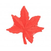 12PCS Embroidered Fabric Patches/Badges Sticker Iron Sew On Applique [Leaf Red]