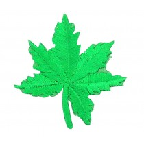 12PCS Embroidered Fabric Patches Sticker Iron Sew On Applique [Leaf Green]