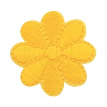 12PCS Embroidered Fabric Patches Sticker Iron Sew On Applique [Flower Yellow C]