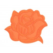 9PCS Embroidered Fabric Patches Sticker Iron Sew On Applique [Rose Orange]