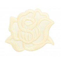 9PCS Embroidered Fabric Patches Sticker Iron Sew On Applique [Rose Yellow]