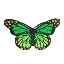 6PCS Embroidered Fabric Patches Sticker Iron Sew On Applique [Butterfly C]
