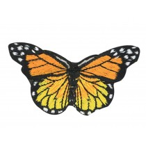 6PCS Embroidered Fabric Patches Sticker Iron Sew On Applique [Butterfly D]