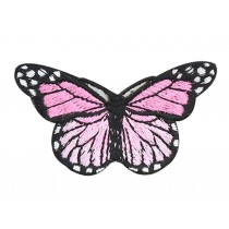 6PCS Embroidered Fabric Patches Sticker Iron Sew On Applique [Butterfly H]