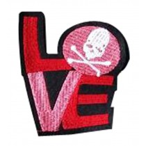 Set Of 2 Cloth Badge Affixed Patch Stickers Applique Patches (Love)