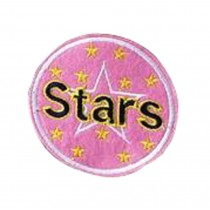 Set Of 2 Cloth Badge Affixed Patch Stickers Applique Patches (Stars)