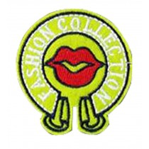 Set Of 2 Cloth Badge Affixed Patch Stickers Applique Patches Green