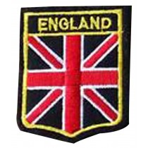 Set Of 2 Cloth Badge Affixed Patch Stickers Applique Patches (England)