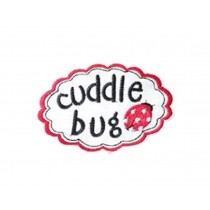 Set Of 2 Cool Cloth Badge Affixed Patch Stickers Applique Patches (Cuddle Bug)