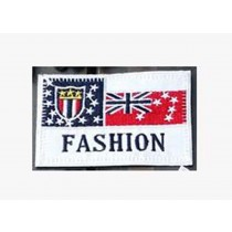 Set Of 2 Cloth Badge Affixed Patch Stickers Applique Patches (Fashion)