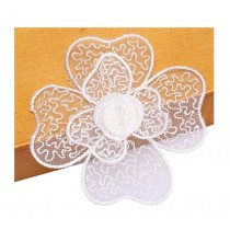 Set Of 2 Elegant Lace Embroidery Fabric Dticker Clothes Patch Affixed