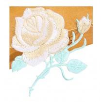 Set Of 2 Elegant Lace Embroidery Fabric Dticker Decorative Decals Khaki