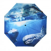Creative Stereo Painting Design Travel/Going-out Automation Umbrella, Dolphin