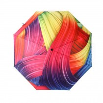 Creative Stereo Painting Design Travel Automation Umbrella, Colorful Lines