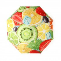 Creative Stereo Painting Design Travel Automation Umbrella, Iced Fruit