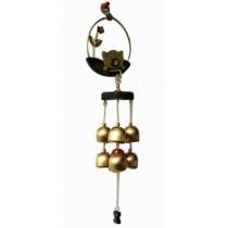 Indoor/Outdoor Decor Bronze Wind Chimes Wind Bells with 6 Bells, Style D
