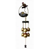 Indoor/Outdoor Decor Bronze Wind Chimes Wind Bells with 6 Bells, Style E