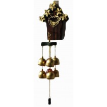 Indoor/Outdoor Decor Bronze Wind Chimes Wind Bells with 6 Bells, Style F