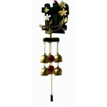 Indoor/Outdoor Decor Bronze Wind Chimes Wind Bells with 6 Bells, Style I