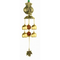 Indoor/Outdoor Decor Bronze Wind Chimes Wind Bells with 6 Bells, Style J