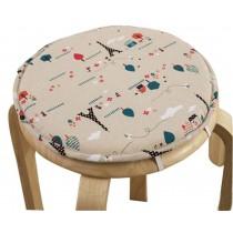 Round Stool Cushion Warm Sponge Pad Bar Stool Mat Cartoon Pattern