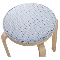 Creative Round Stool Cushion Warm Sponge Pad Bar Stool Mat Blue Flowers
