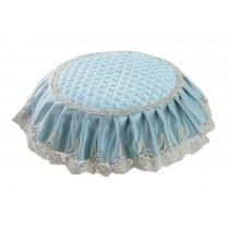 Lovely Stool Mat Beautiful Round Stool Cushion European Style Stools Pad Blue