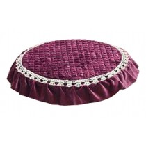 Lace Round Cushion Stool Pad Stylish Stool Pad Green Stool Pad Red Wine