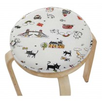 Lovely Round Stool Cushion Warm Sponge Pad Bar Stool Mat