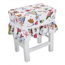 Cotton Canvas Square Stool Cover Makeup Stool Sets Bar Stool Sets