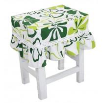 Cotton Canvas Square Stool Cover Makeup Stool Sets Bar Stool Sets Green