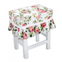 Cotton Canvas Square Stool Cover Makeup Stool Sets Bar Stool Sets Pink