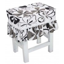 Cotton Canvas Square Stool Cover Makeup Stool Sets Bar Stool Sets Cherry