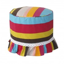 Makeup Stool Stool Sets Cotton Canvas Stool Cover Stripe