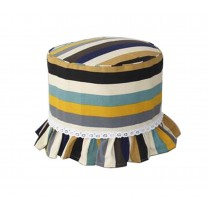 Europe Style Makeup Stool Stool Sets Cotton Canvas Stool Cover Stripe