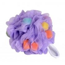 Set Of 2 Bath Ball Shower Ball Mesh Brush Mesh Shower Ball [Purple]